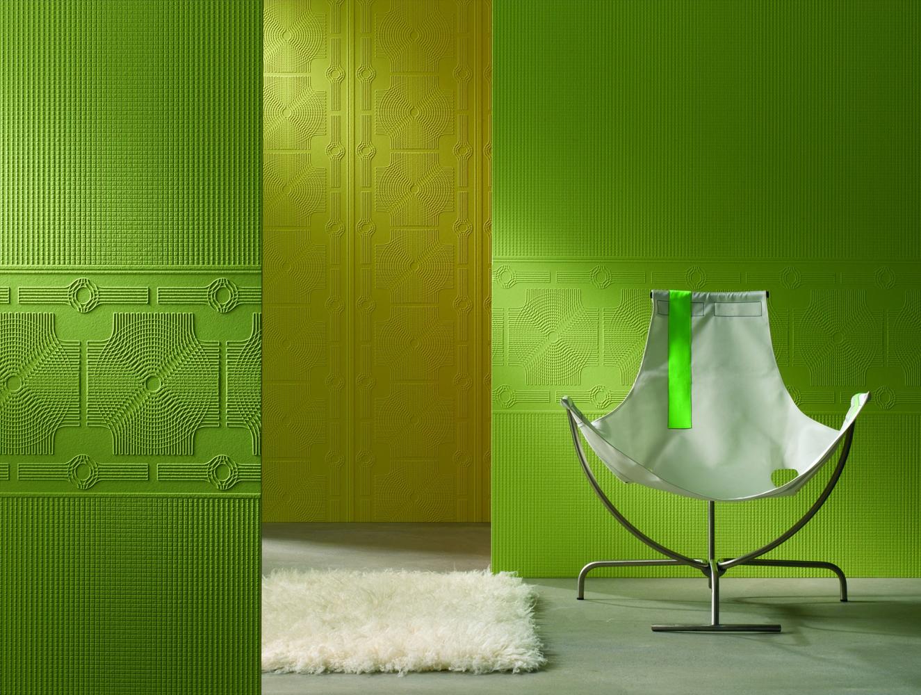 Фото зеленых стеклообоев