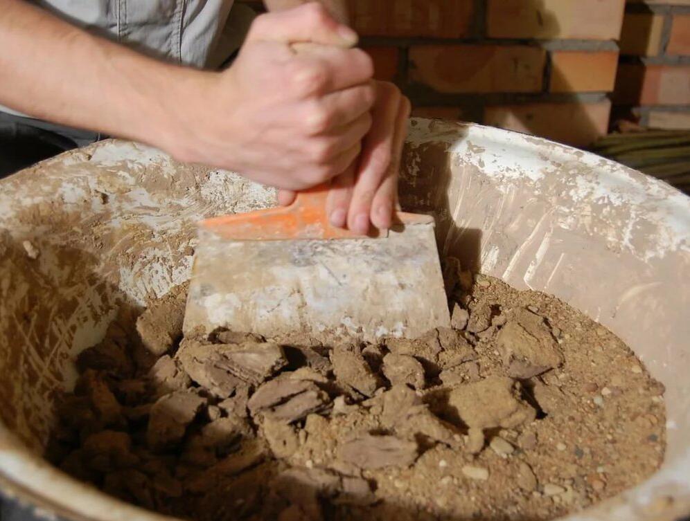 Приготовление глины