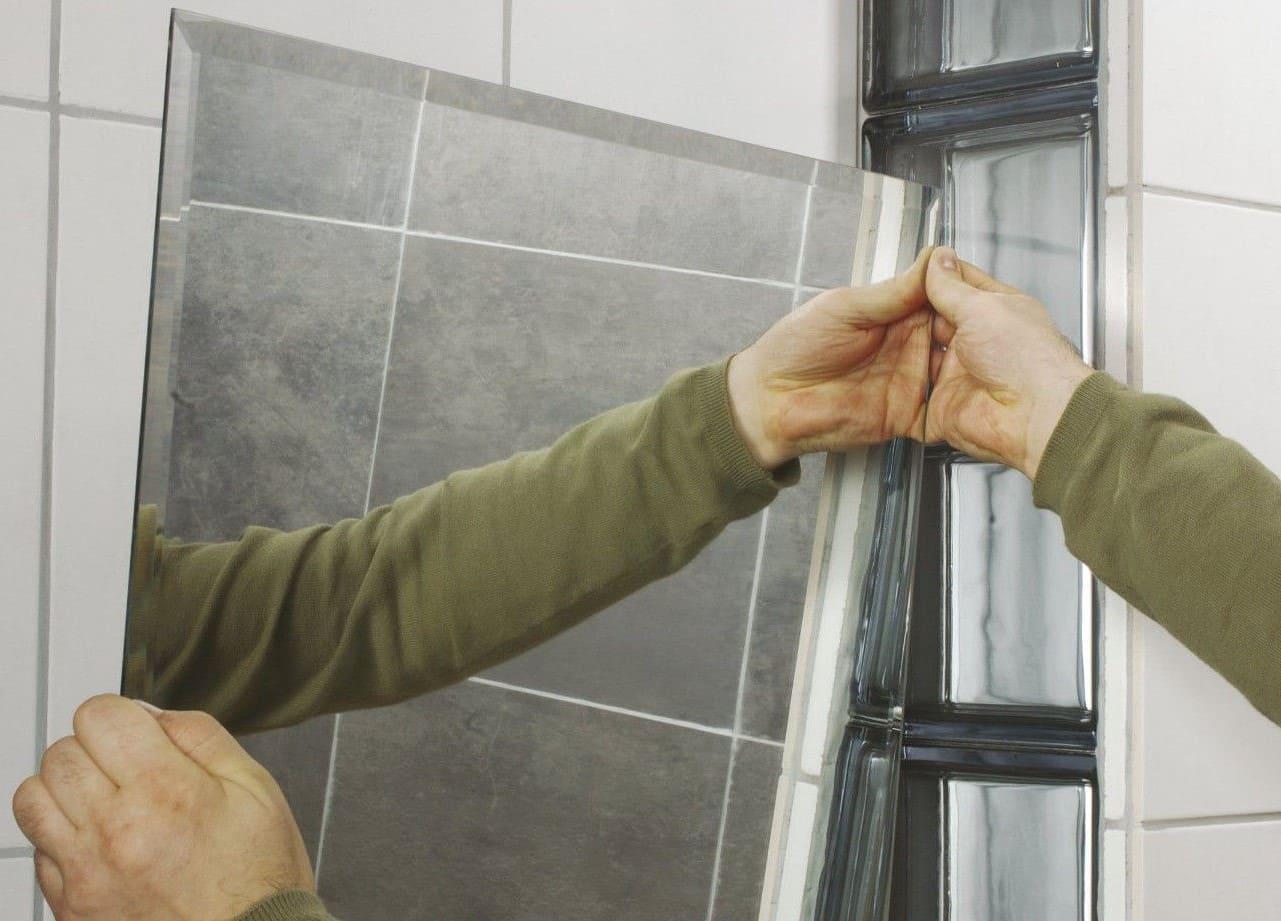 Приклеивание зеркала