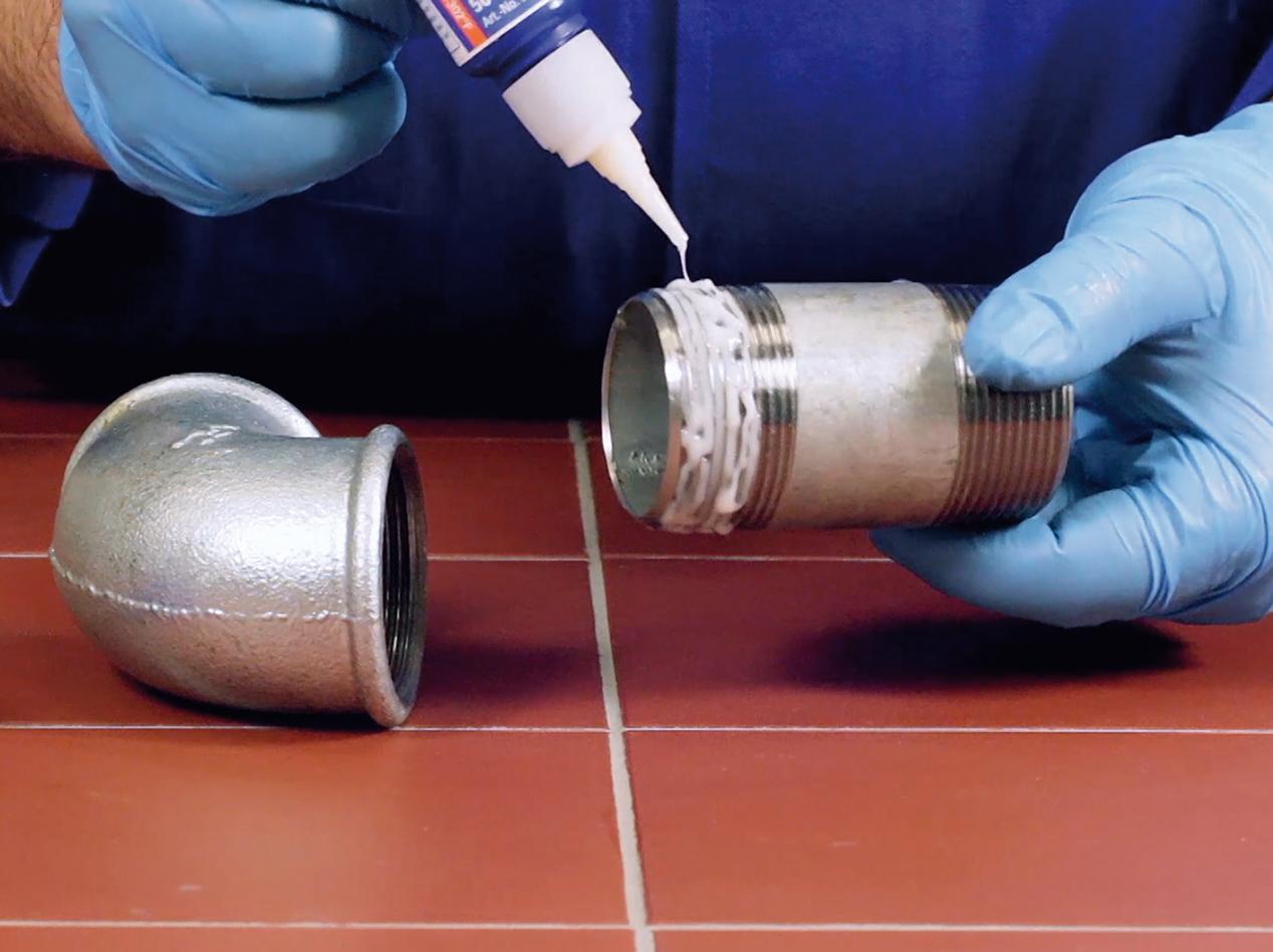 Склеивание металлической трубы