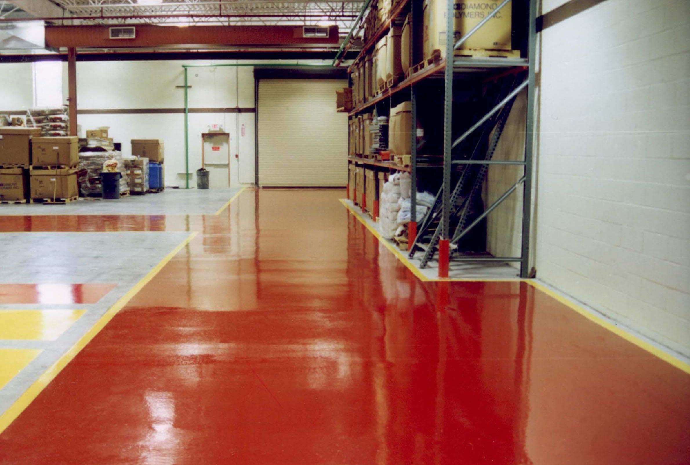 Крашенный бетонный пол