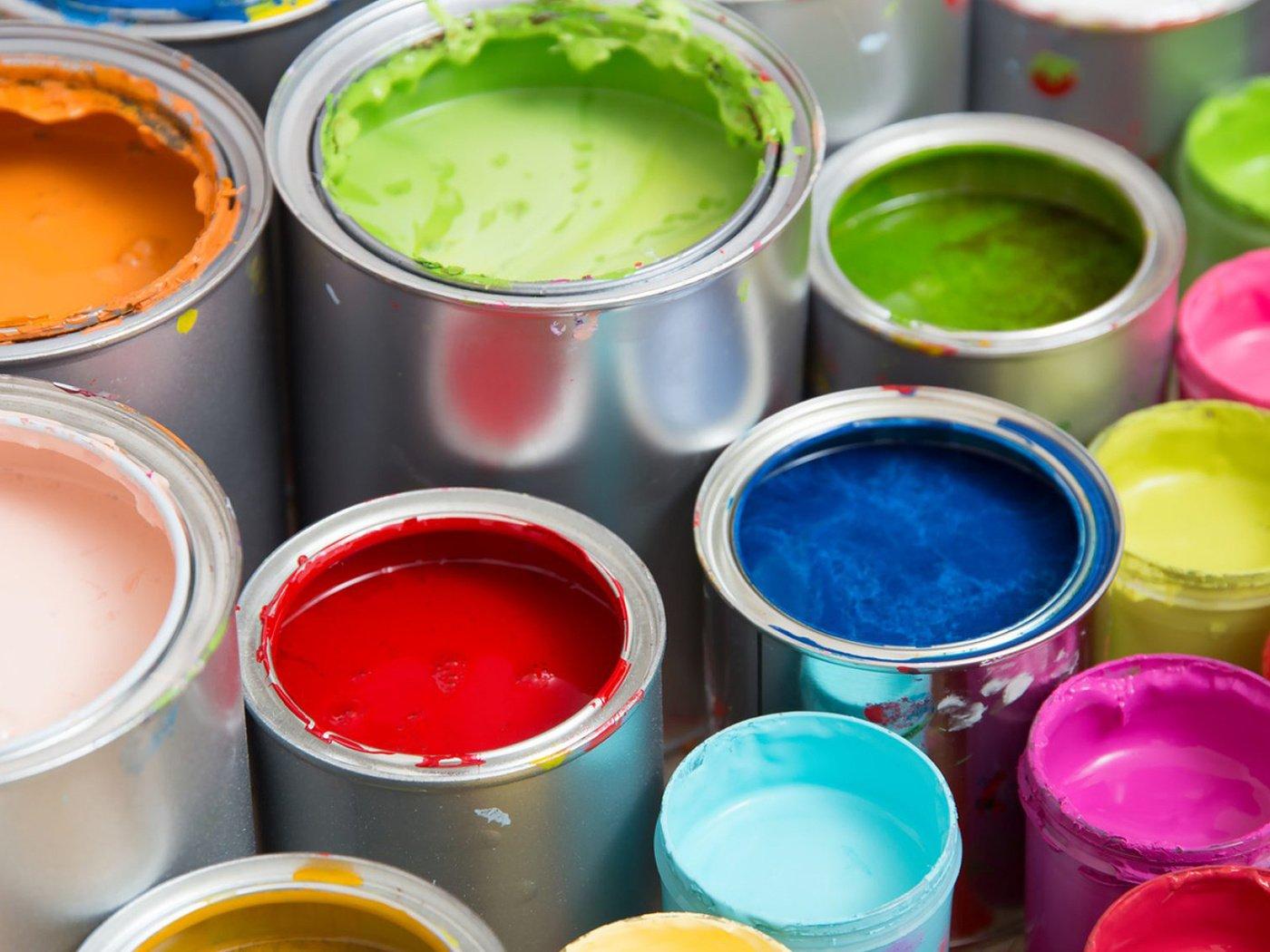 Фото краски в банках
