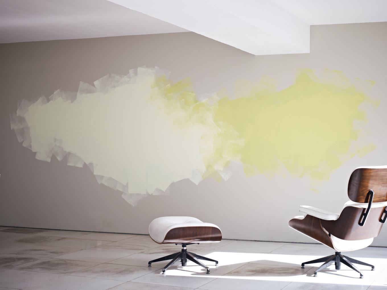 Минеральная краска на стене