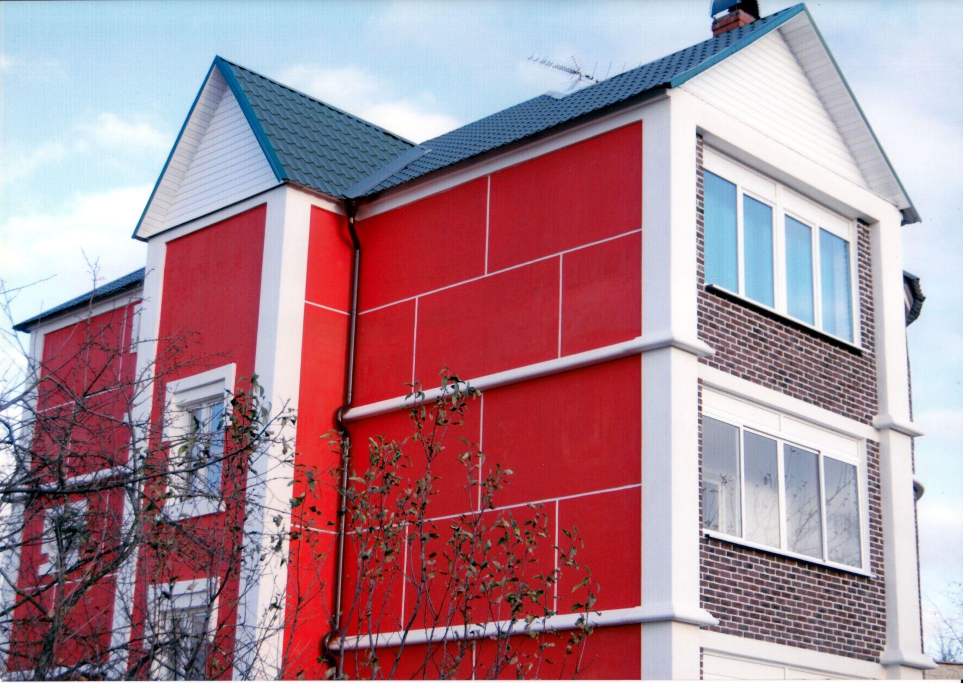Резиновая краска на фасаде