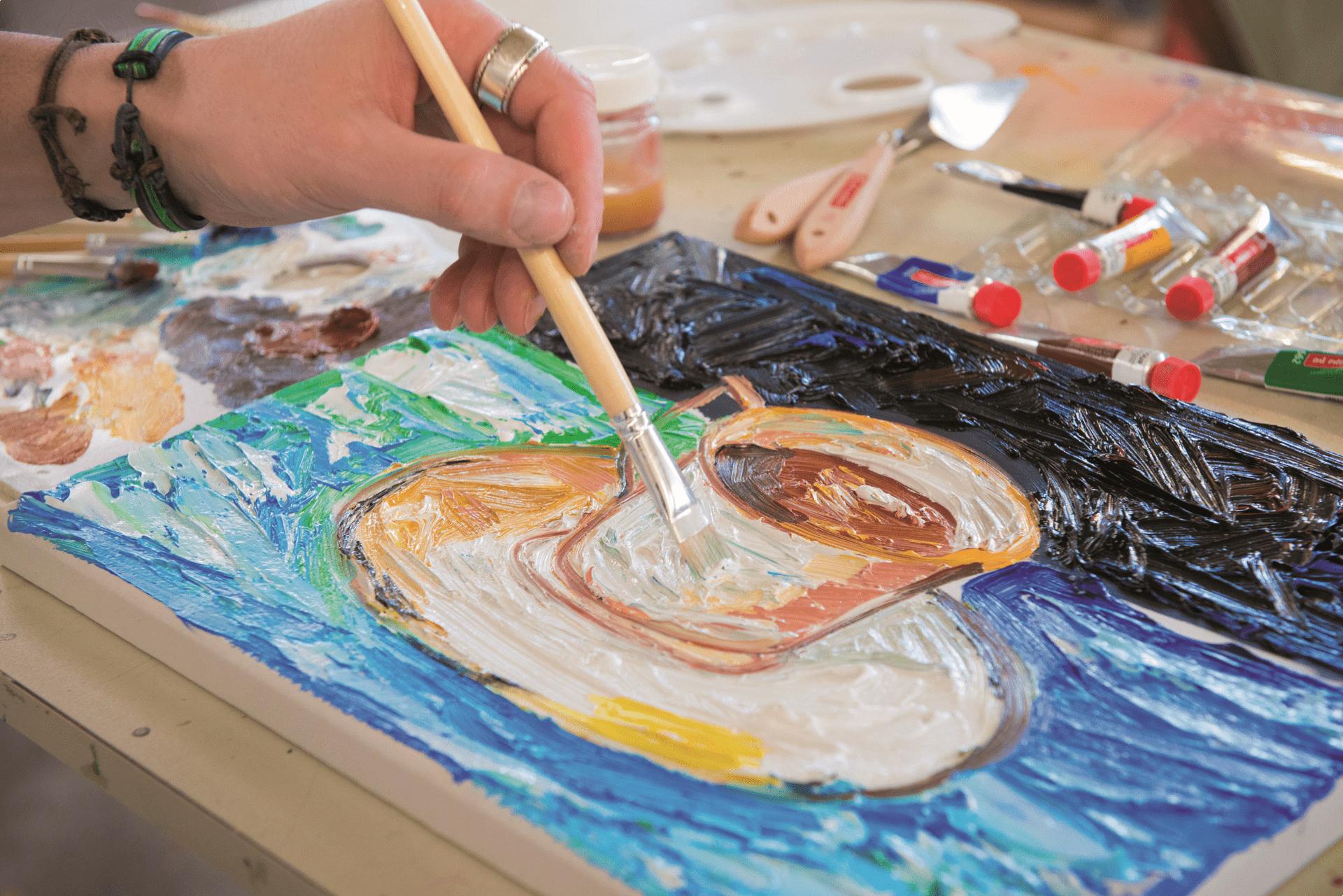 Рисование темперными красками