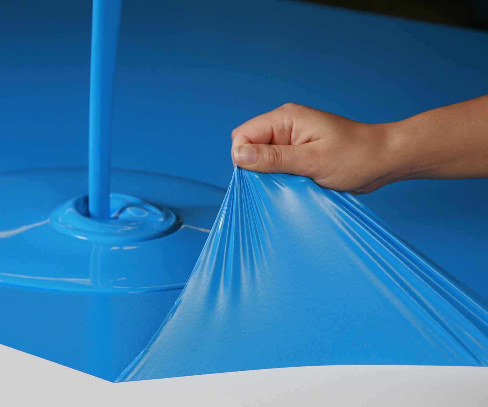 Синяя резиновая краска