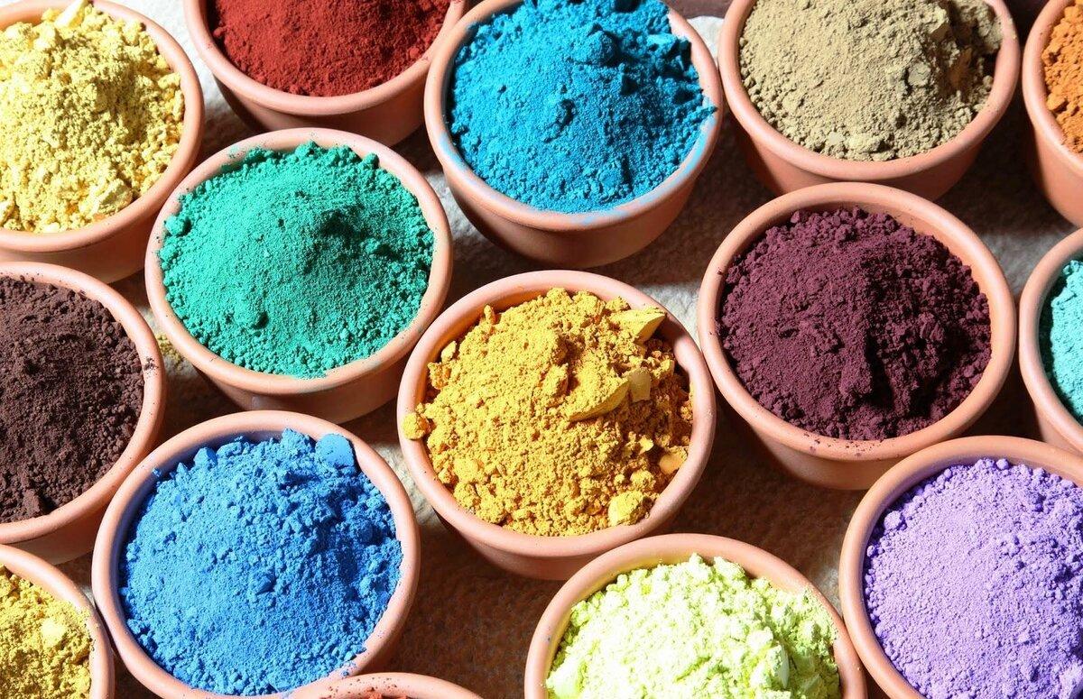 Фото цветных пигментов
