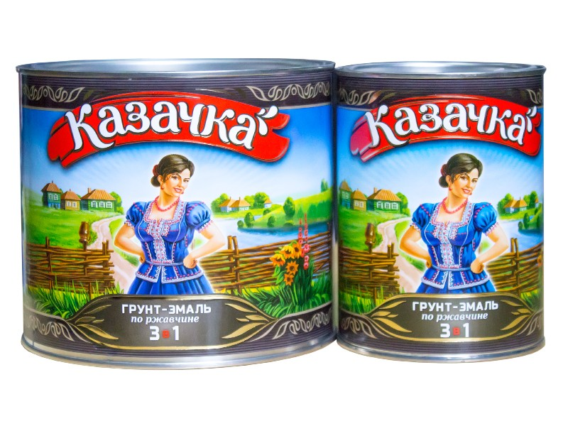 """Грунт-эмаль """"Казачка"""" 3в1"""