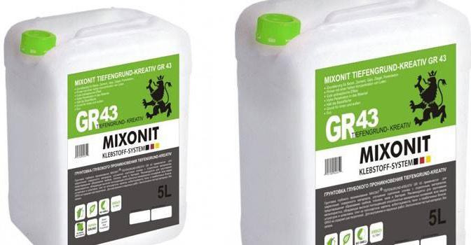 Грунтовка Mixonit GR43