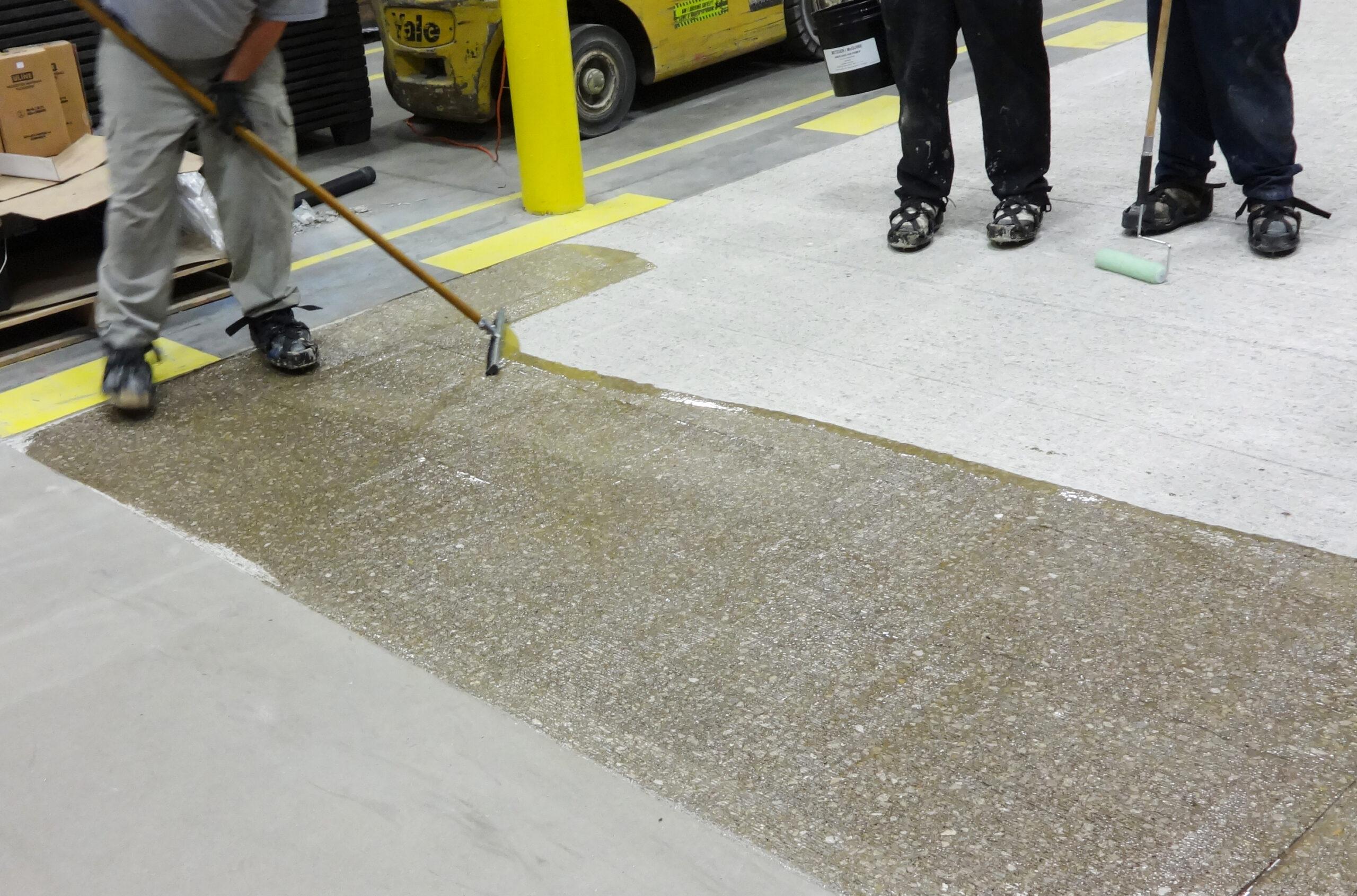 Грунтовка бетона на открытом воздухе