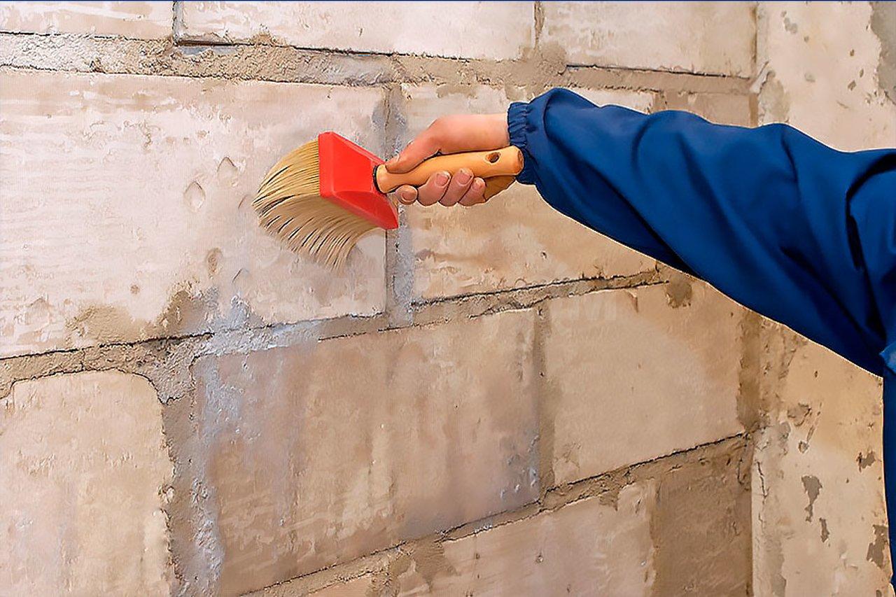 Грунтовка стен из пеноблоков