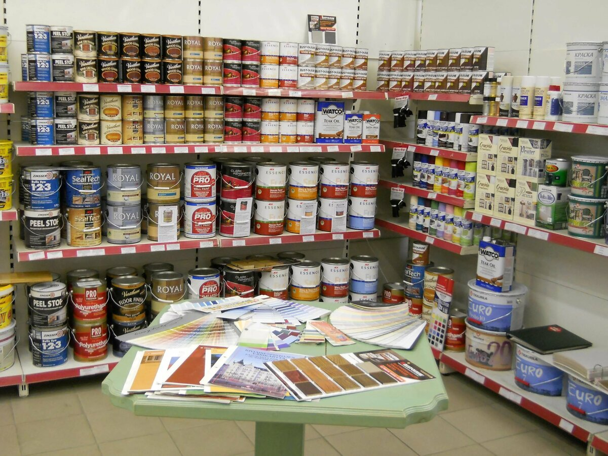Фото магазина красок