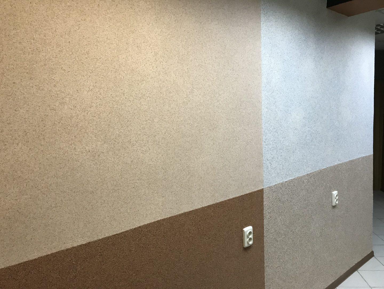 Мраморная штукатурка на стенах