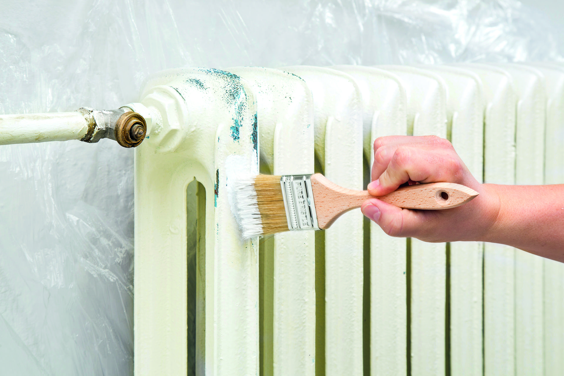 Покраска радиатора