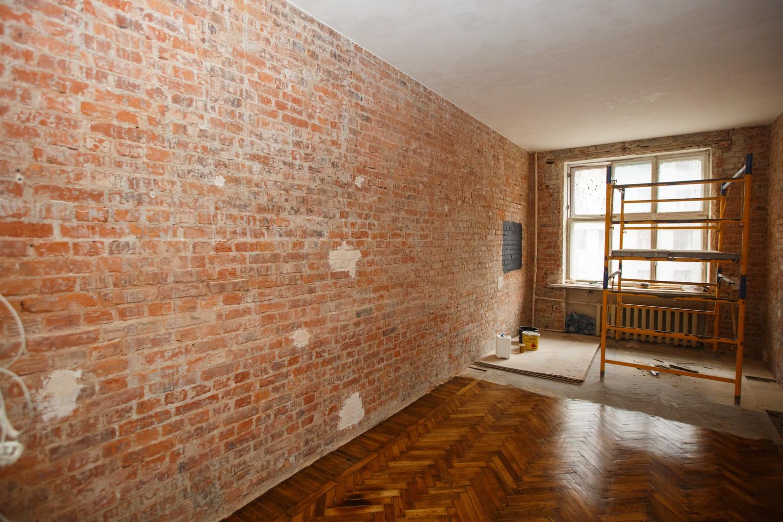Фото стен из кирпича