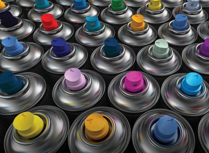 Фото аэрозольных красок
