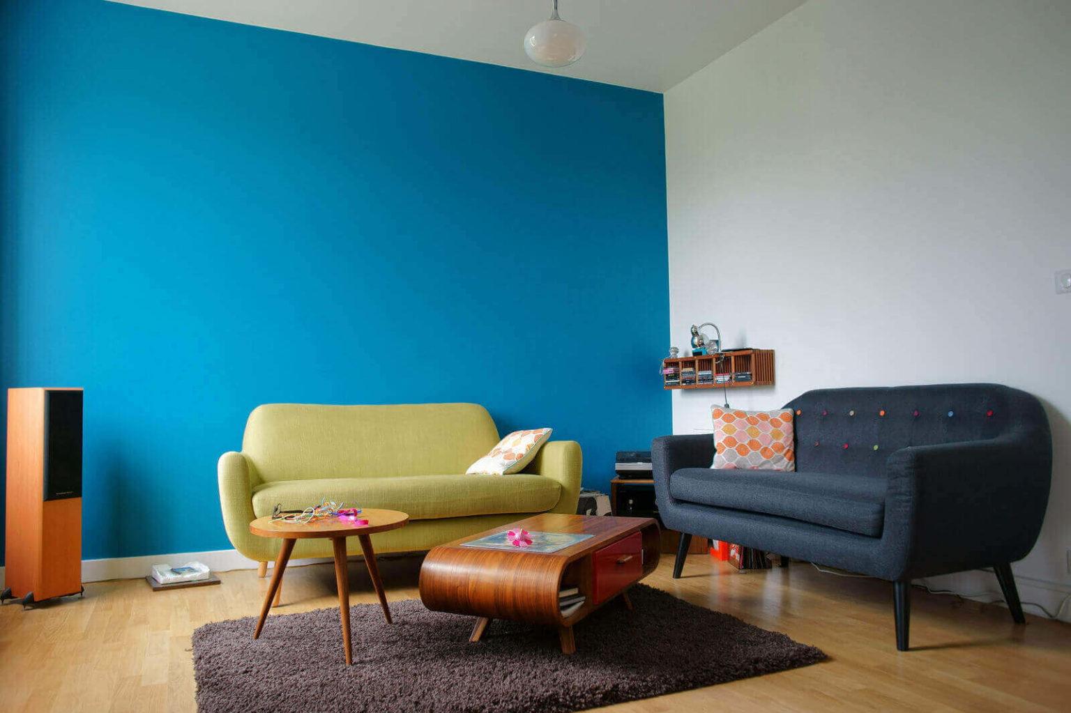 Акриловая краска на стенах