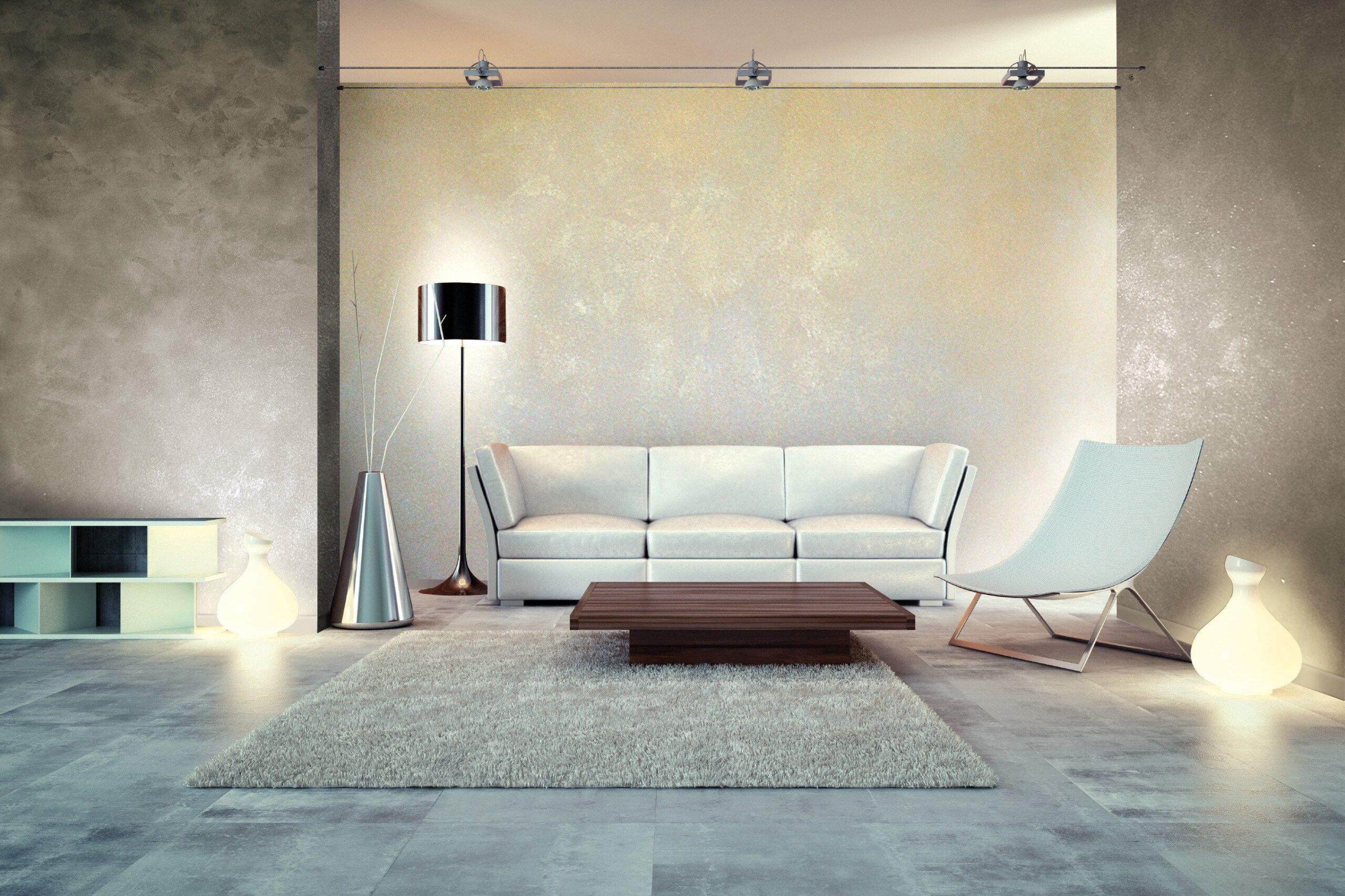Декоративная краска в интерьере