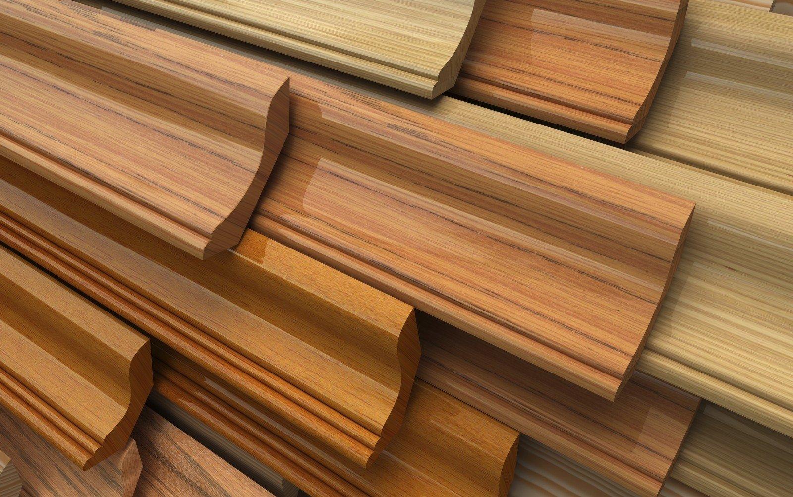 Фото деревянных плинтусов