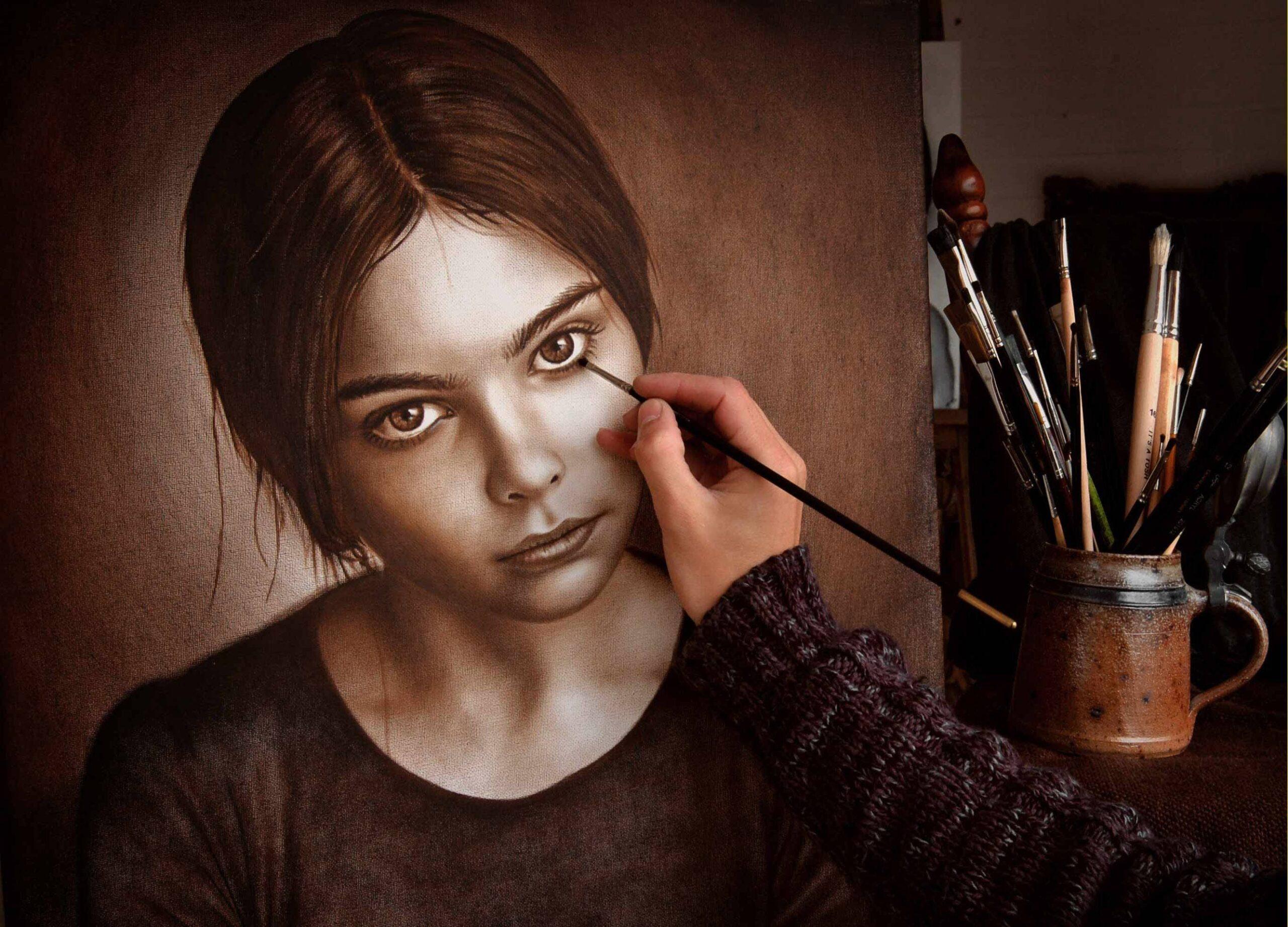 Dry Brush в живописи