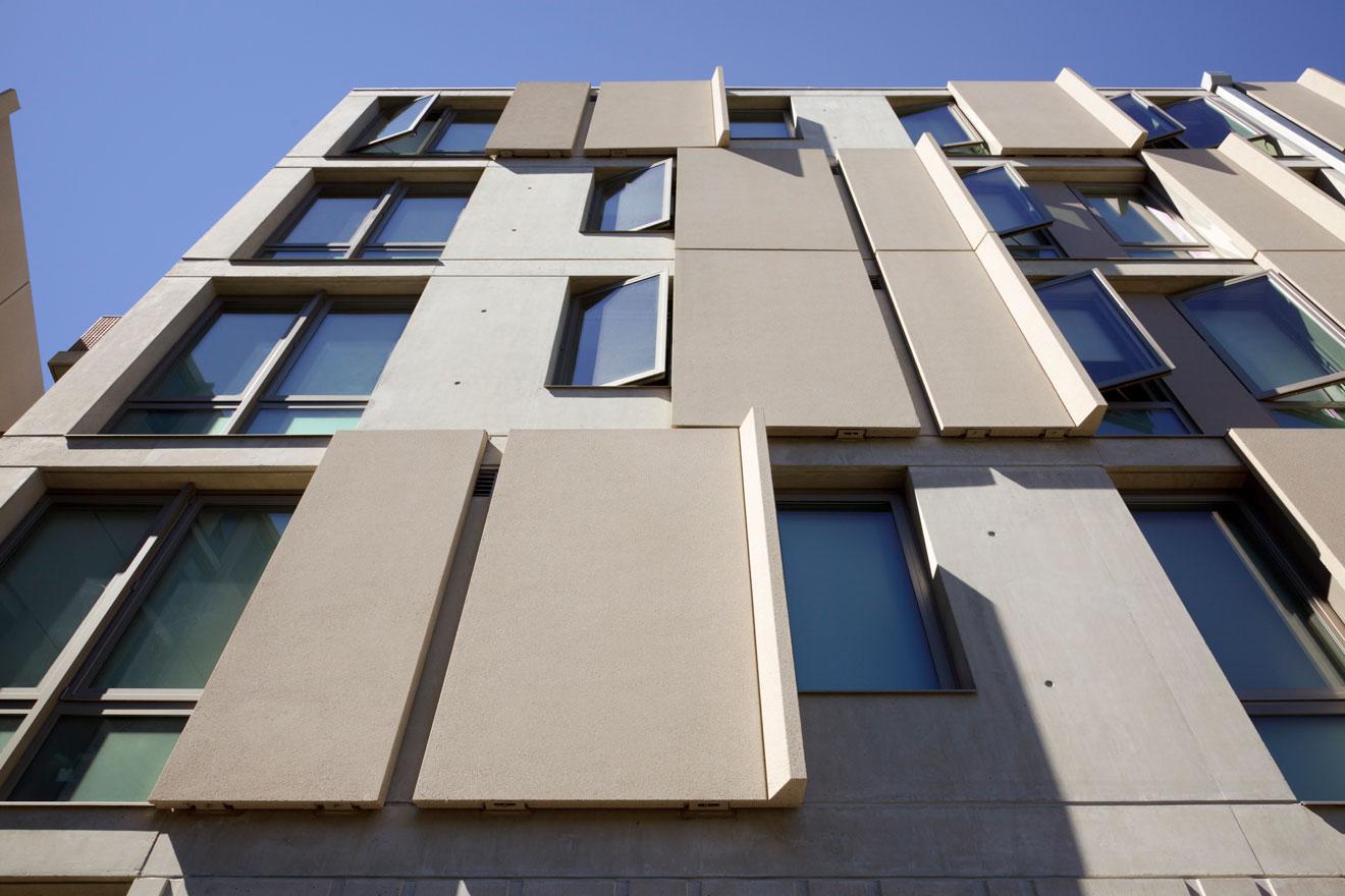 Фасад из бетона