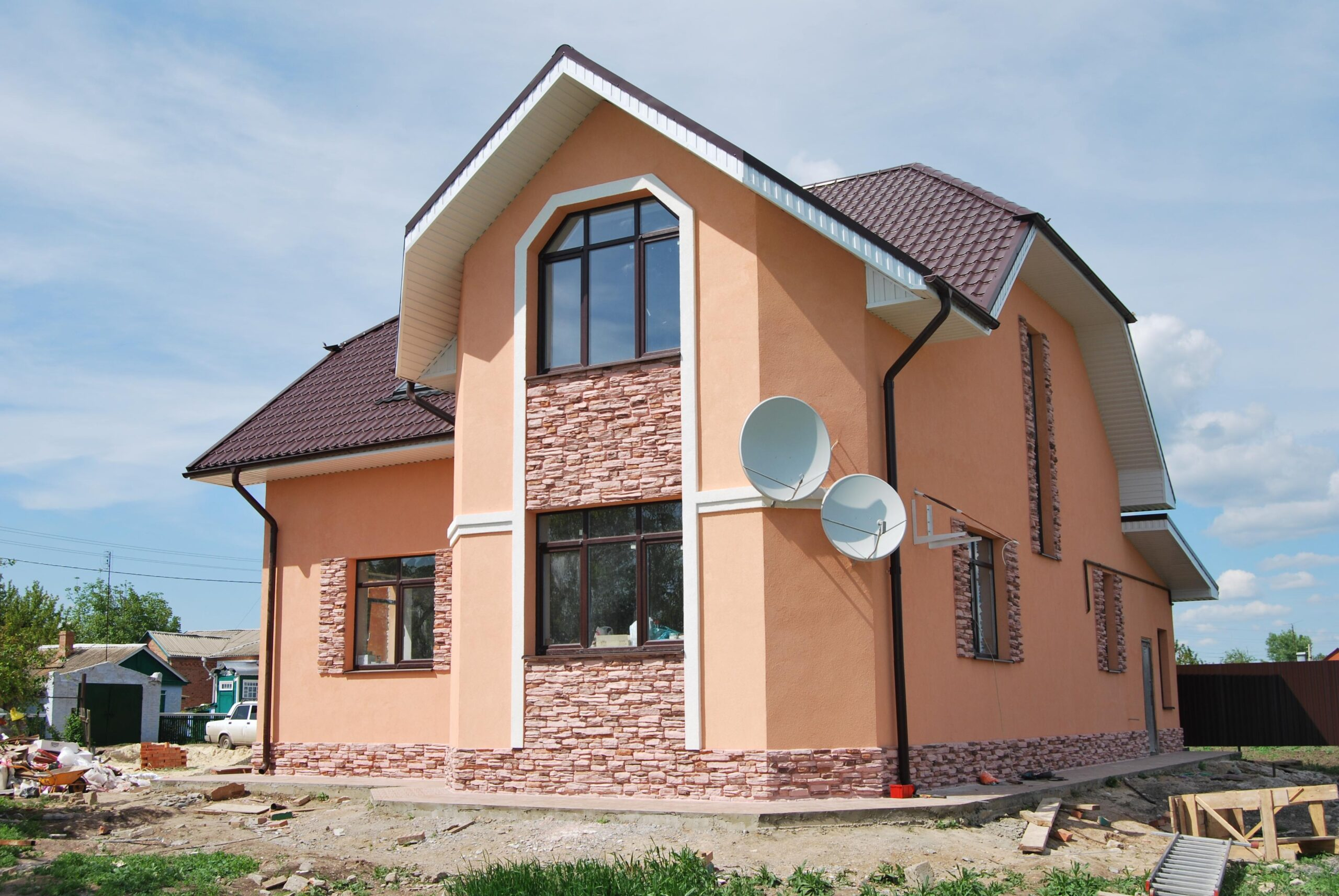 Крашенный дом
