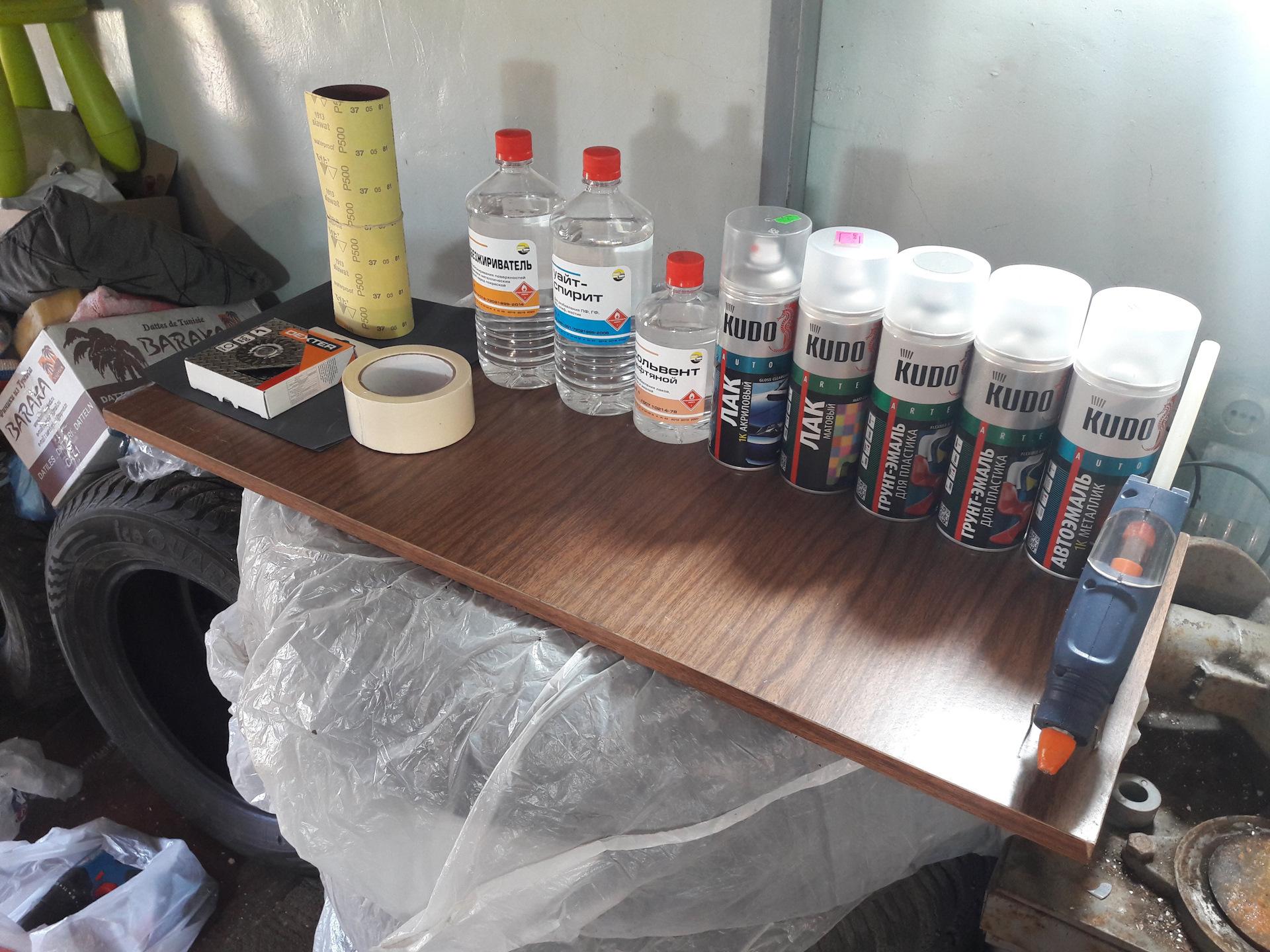 Материалы для покраски пластика