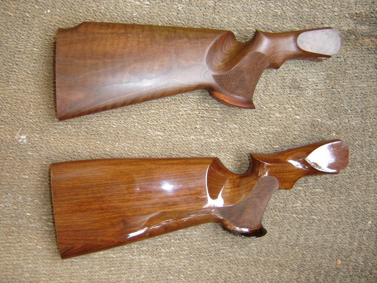Обработанный маслом деревянный приклад