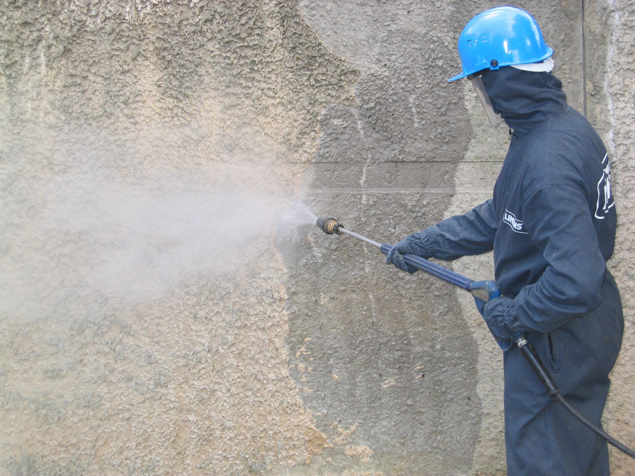 Очищение бетона