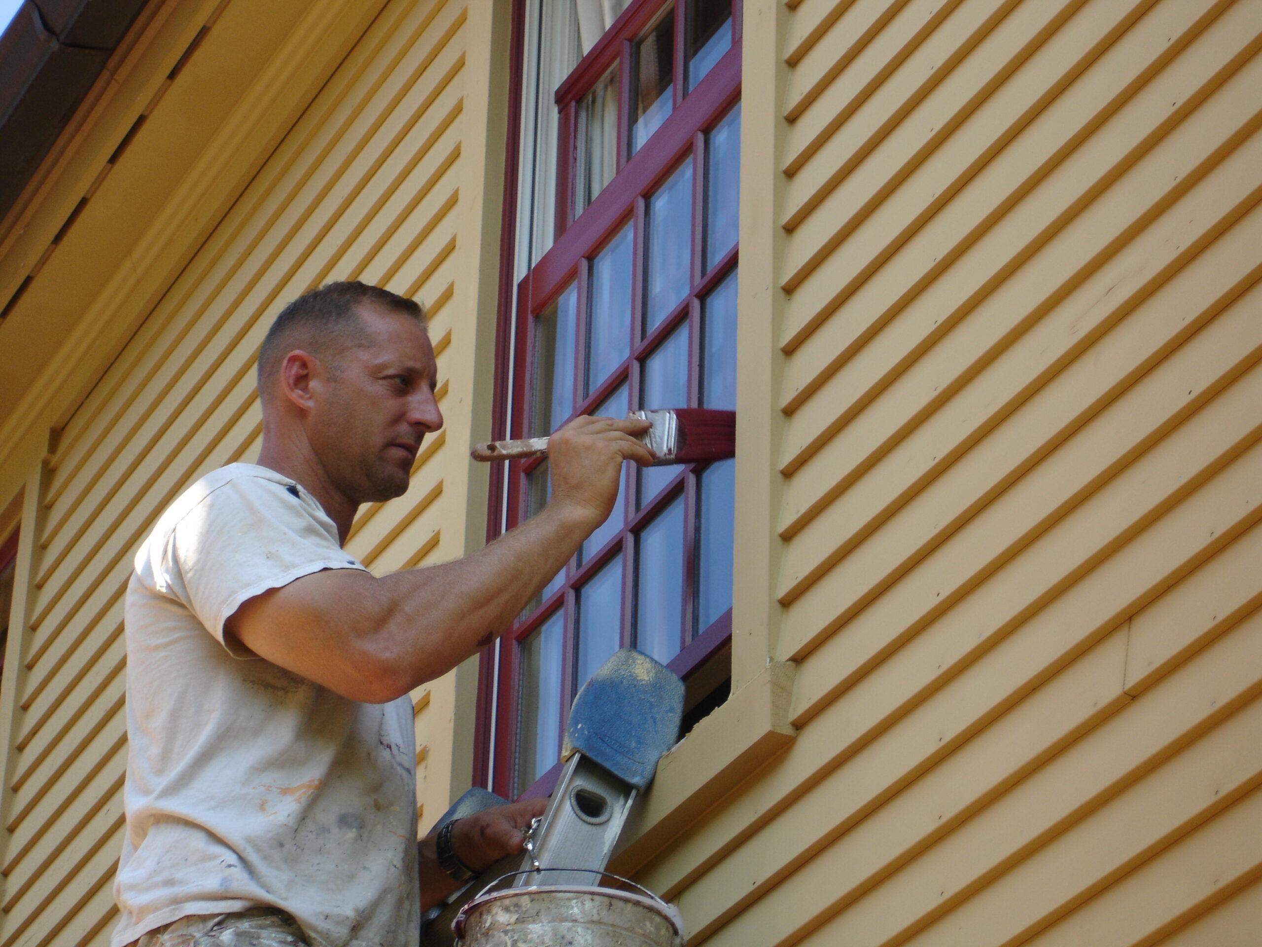 Окрашивание окна снаружи