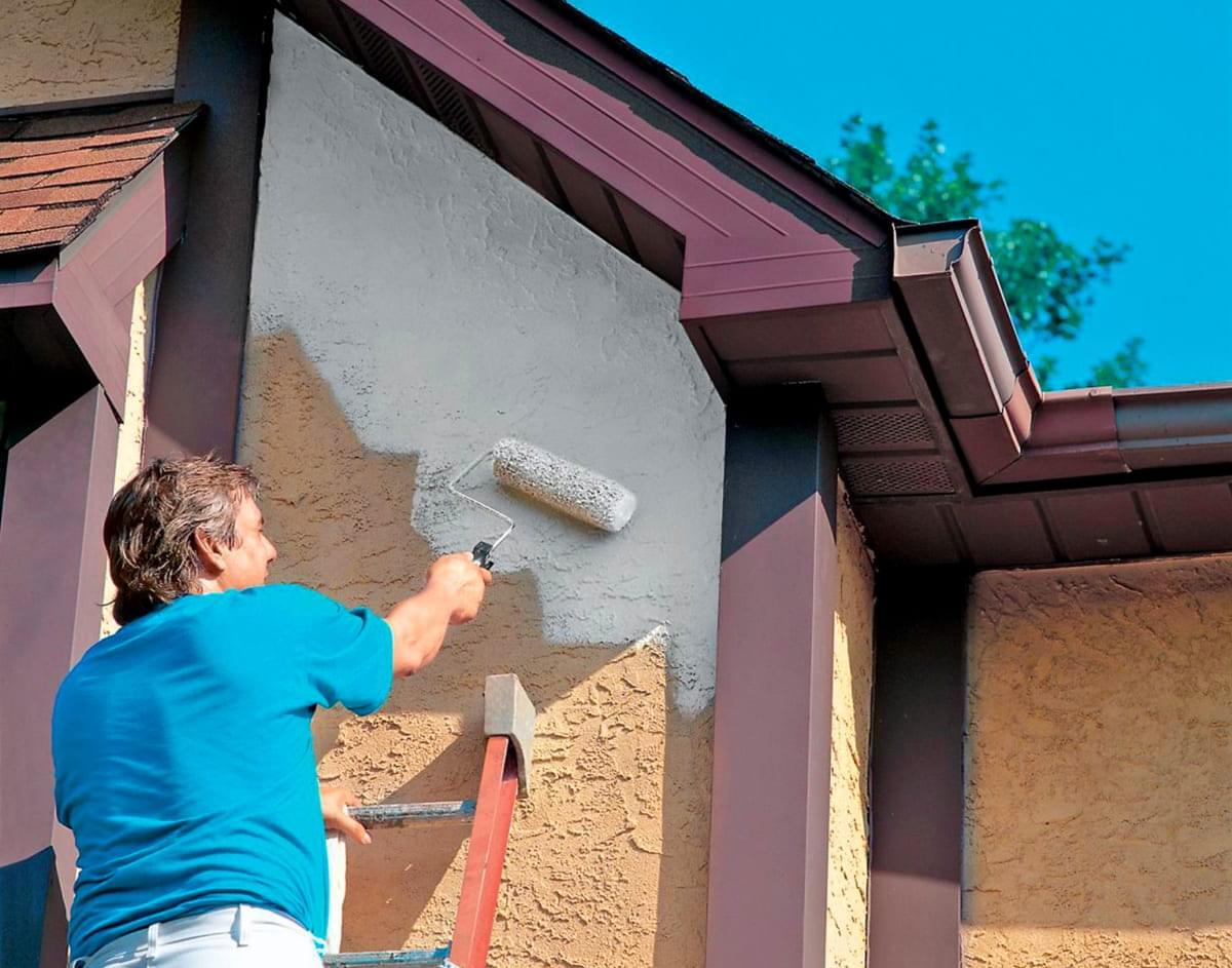 Покраска стен фасада