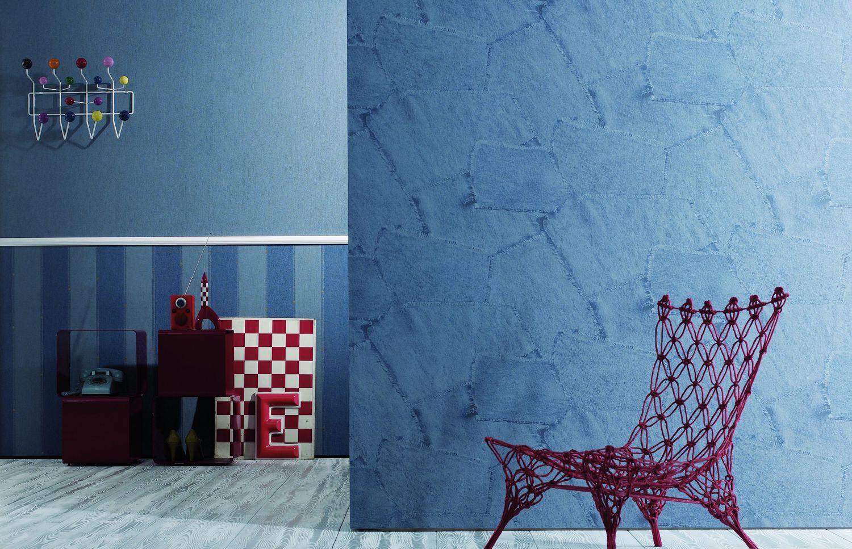 Покраска стен под джинс