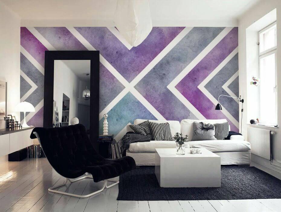 Покраска стен в интерьере