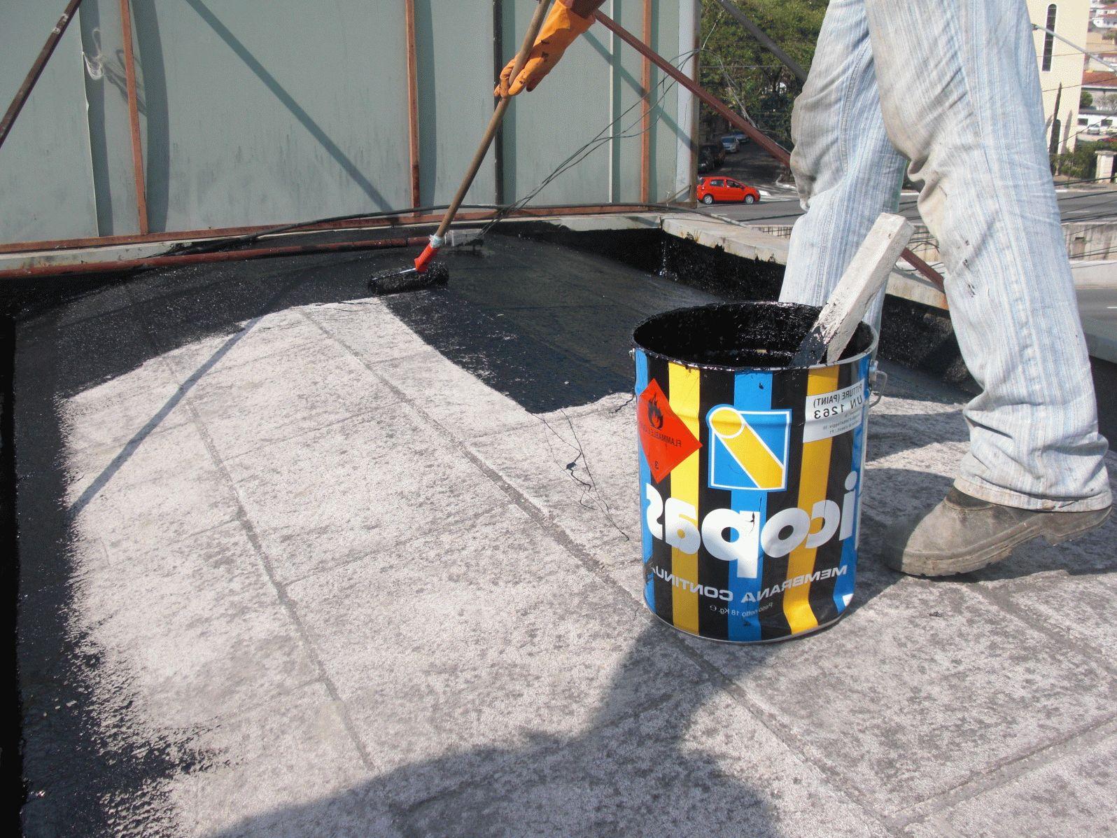Покрытие крыши мастикой
