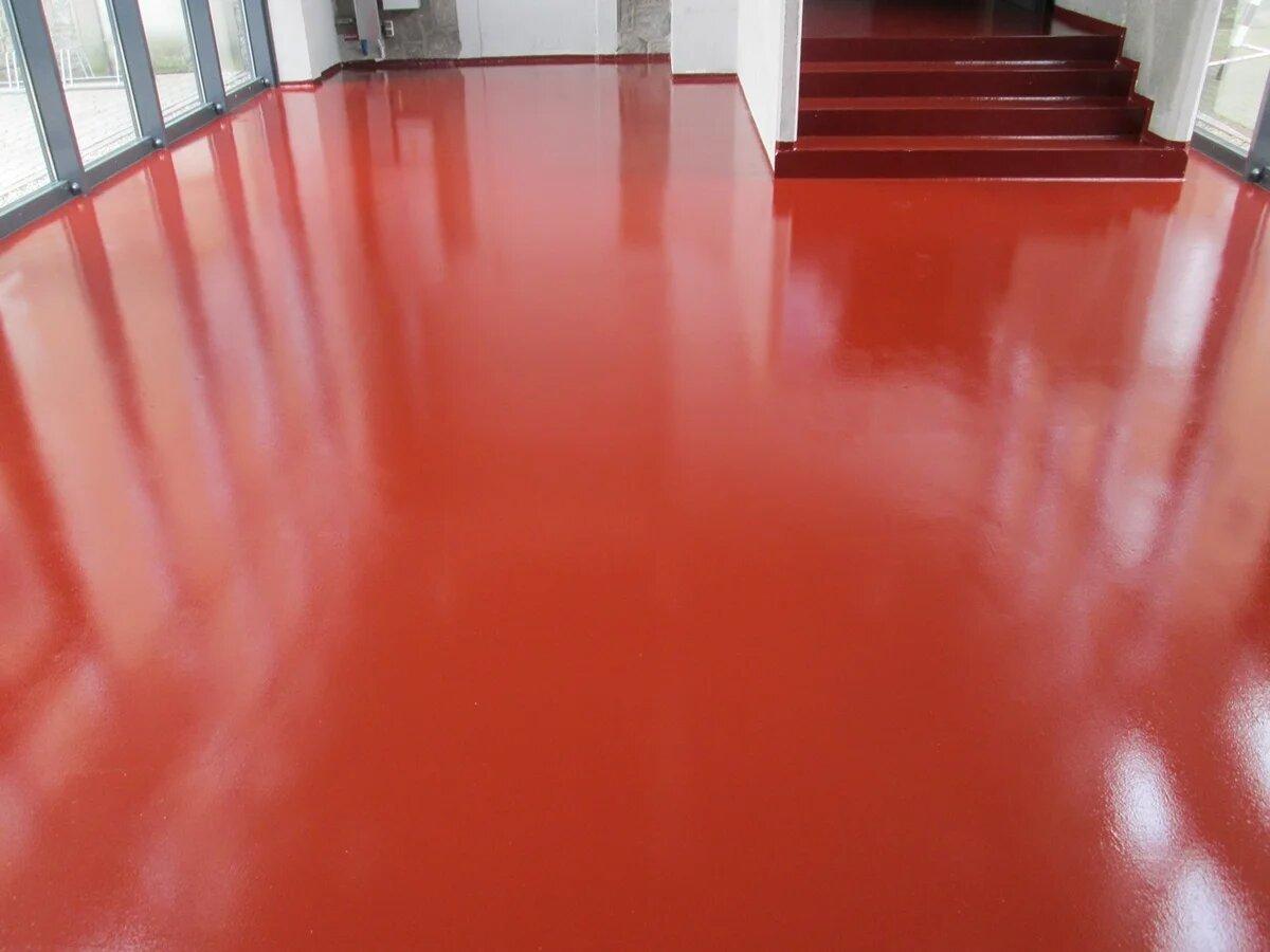 Полиуретановая краска на полу