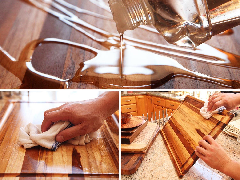 Пропитка древесины маслом