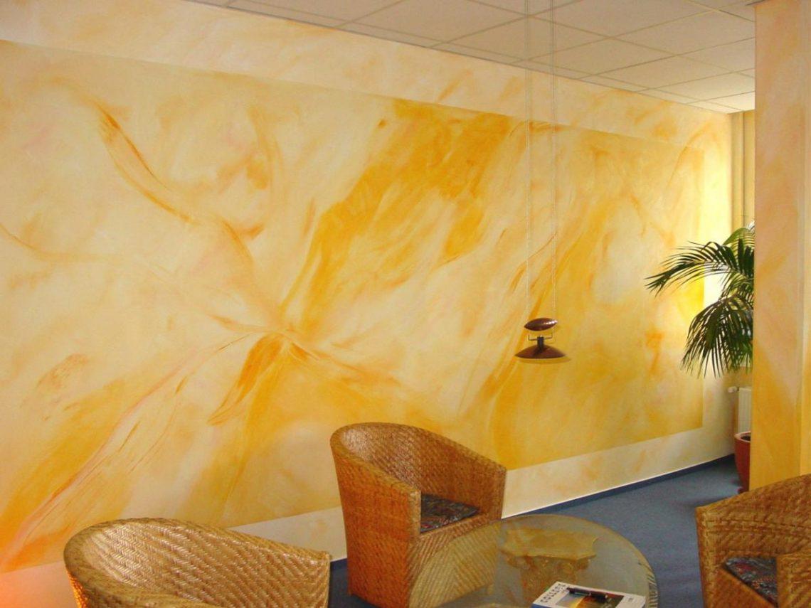 Силикатная краска на стенах
