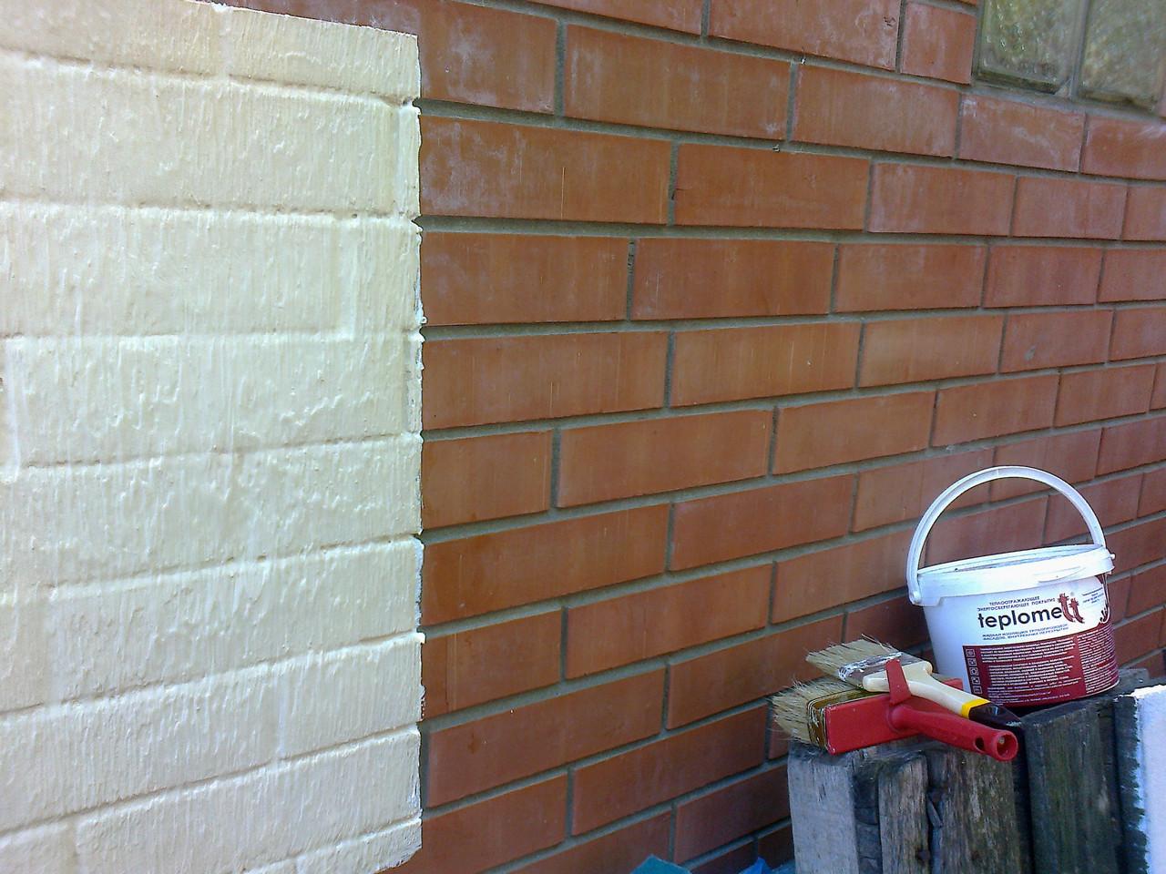 Теплоизоляционная краска на стене