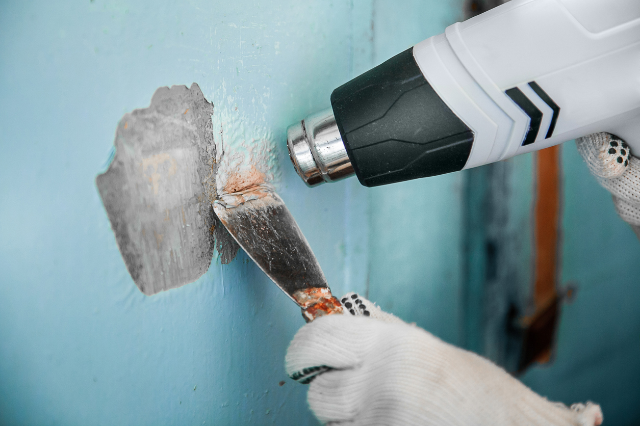 Термический способ удаления краски