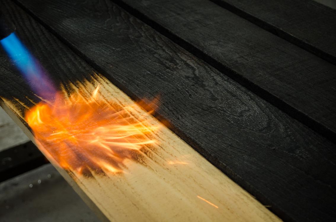 Обжиг дерева