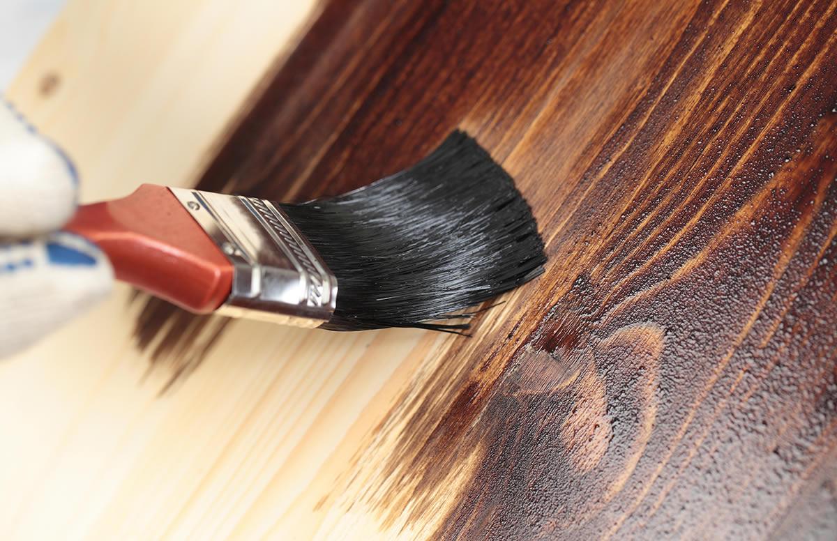 Фото окрашивания дерева