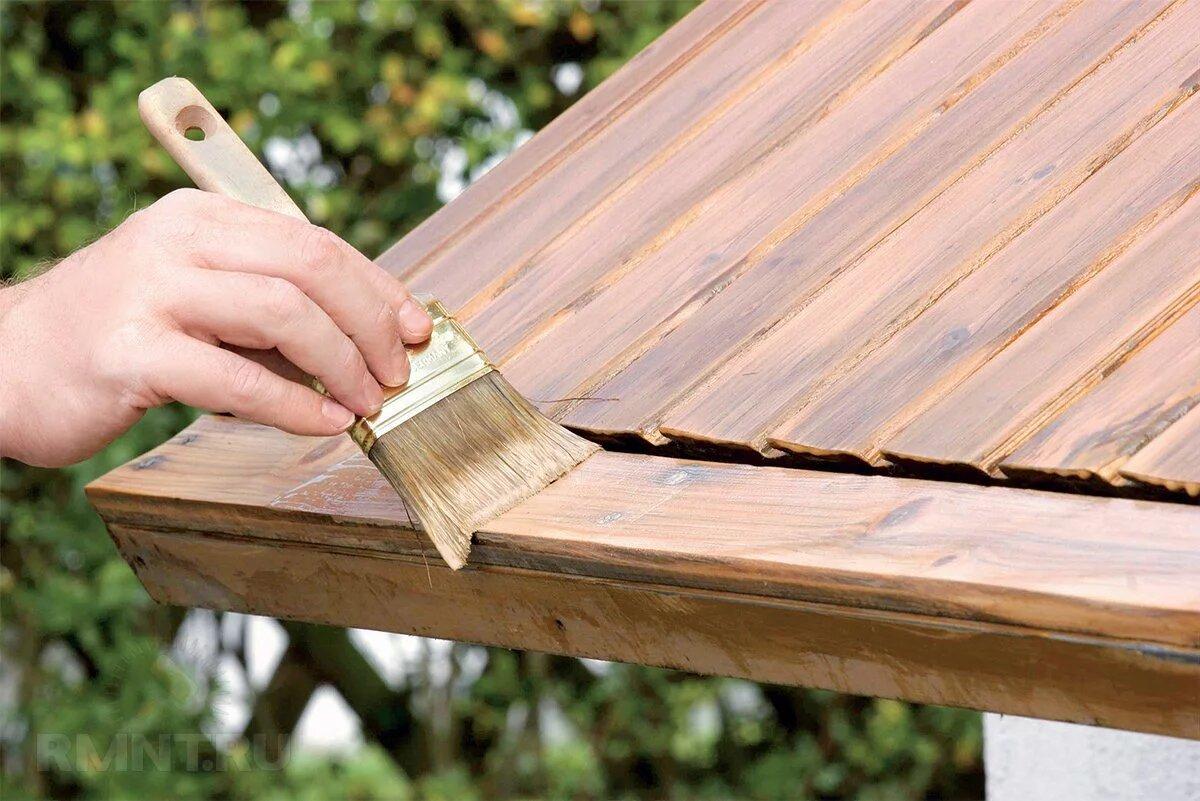 Пропитка деревянной крыши