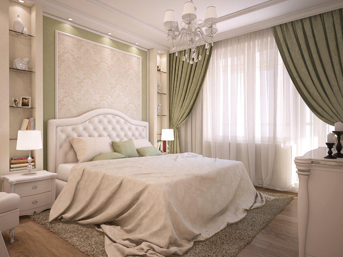 Классический интерьер в спальне
