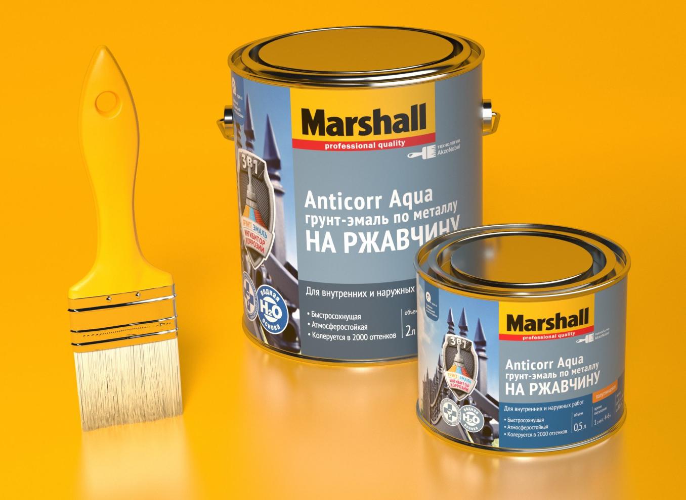 Краска Marshal Antikorr Akva