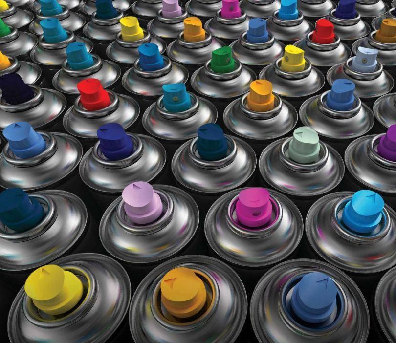 Фото краски в баллончиках
