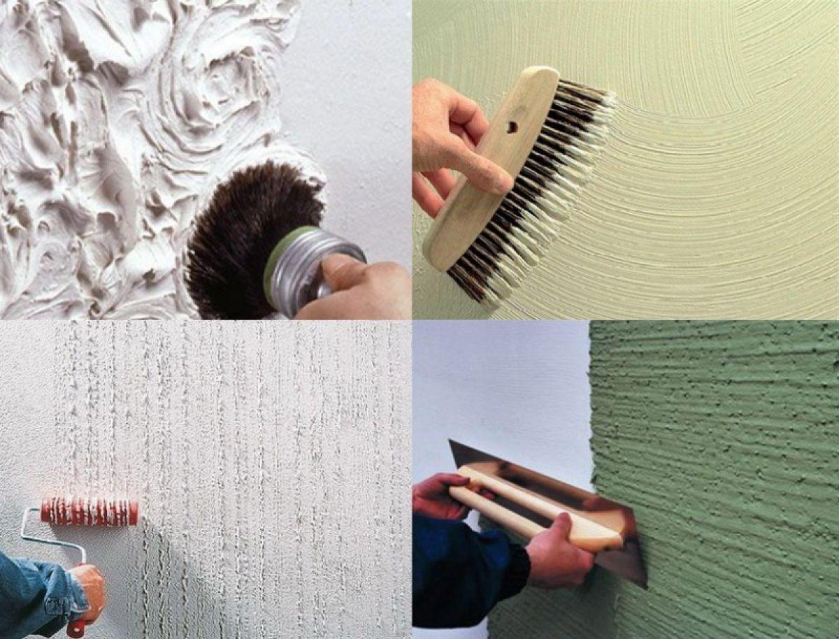 Нанесение структурной краски