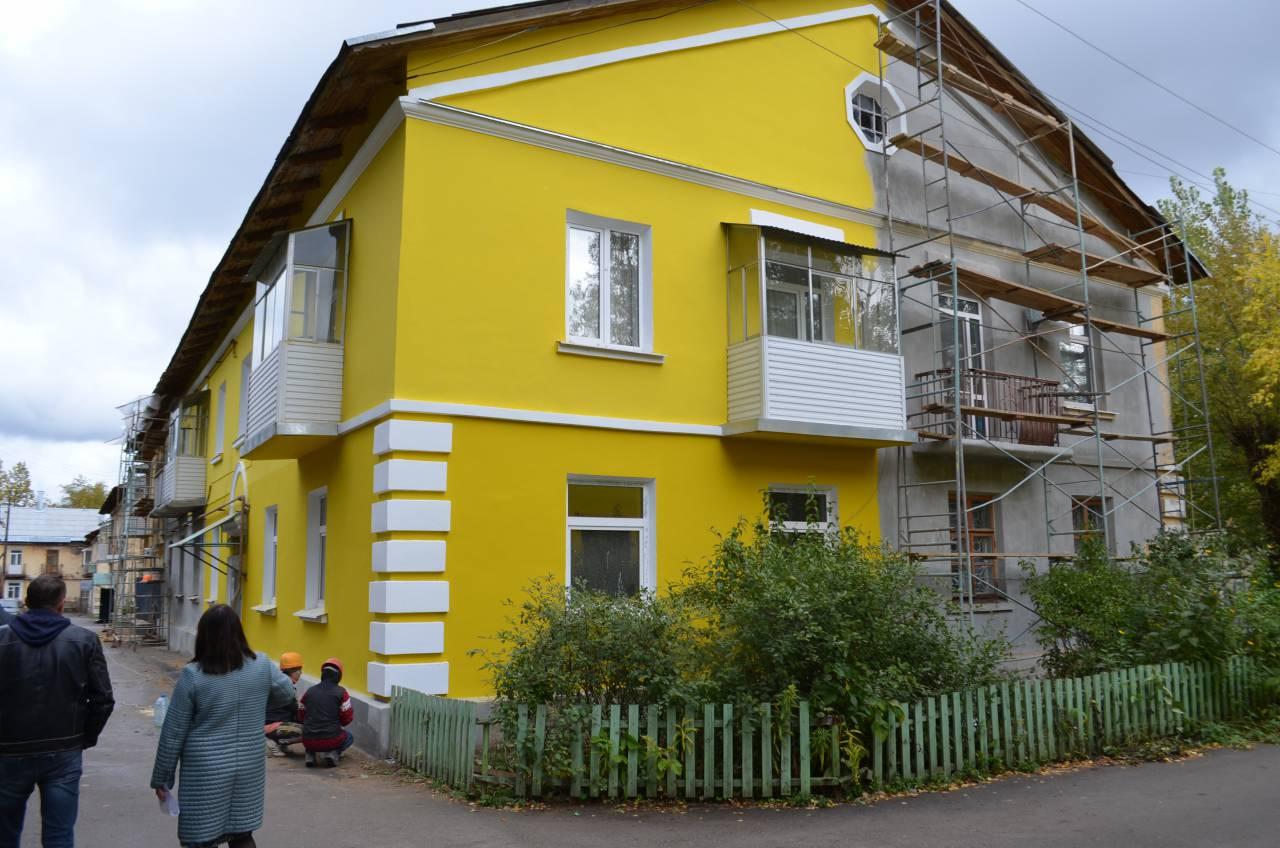 Окрашивание фасада