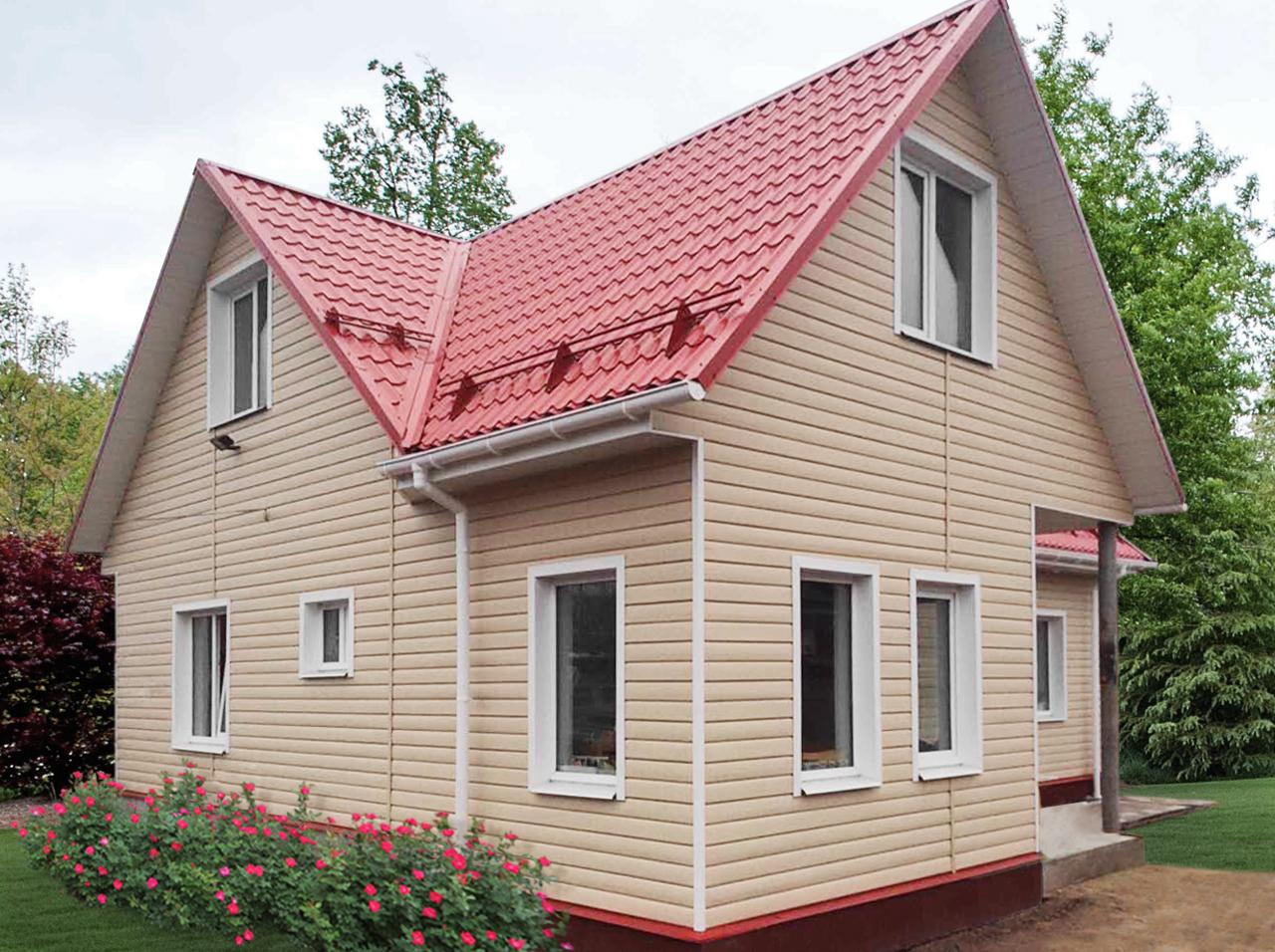 Сайдинг под красную крышу