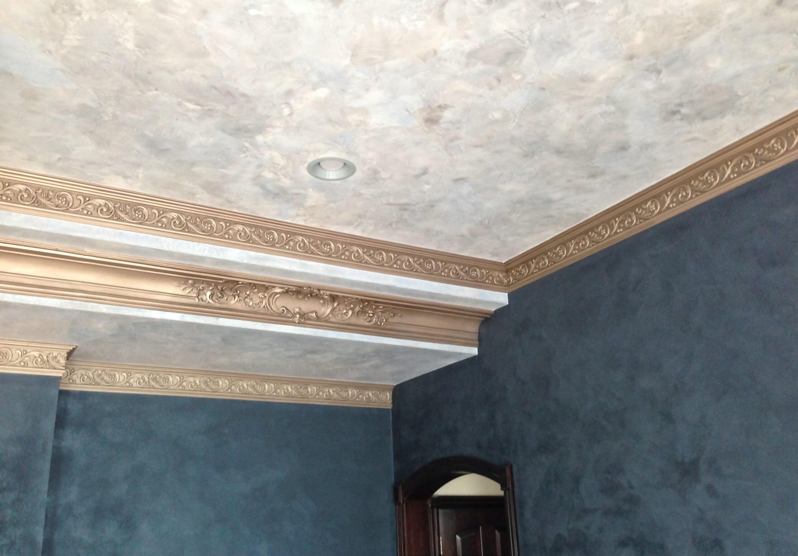 Декоративная штукатурка на потолке