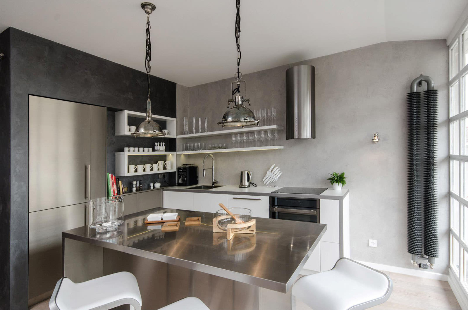 Интерьер лофт на кухне